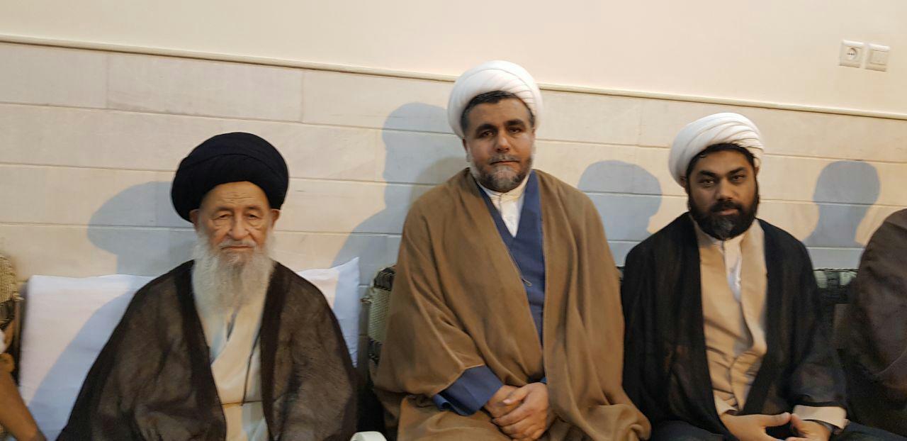 حجتالاسلام والمسلمین رنجبری امام جمعه ماکو، در دیدار با  حضرت آیت الله علوی گرگانی