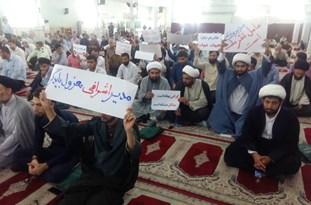 تجمع طلاب و روحانیون اندیمشک