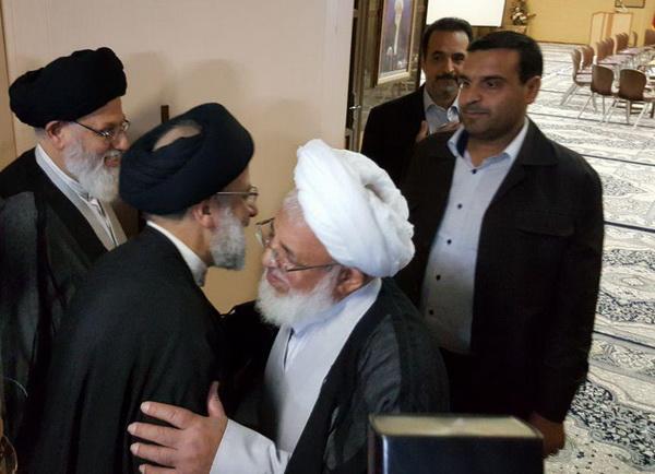 دیدار حجت الاسلام والمسلمین رئیسی و آیت الله ناصری یزدی