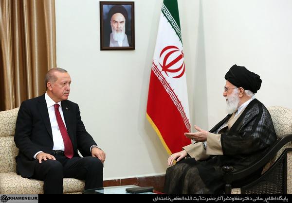 رهبر معظم انقلاب اسلامی در دیدار رییس جمهوری ترکیه