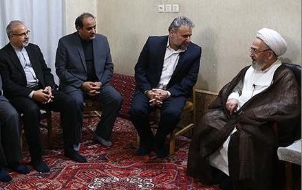 حضرت آیت الله سبحانی در دیدار  رئیس و تعدادی از اعضای کمیسیون امنیت ملی و سیاست خارجی مجلس شورای اسلامی