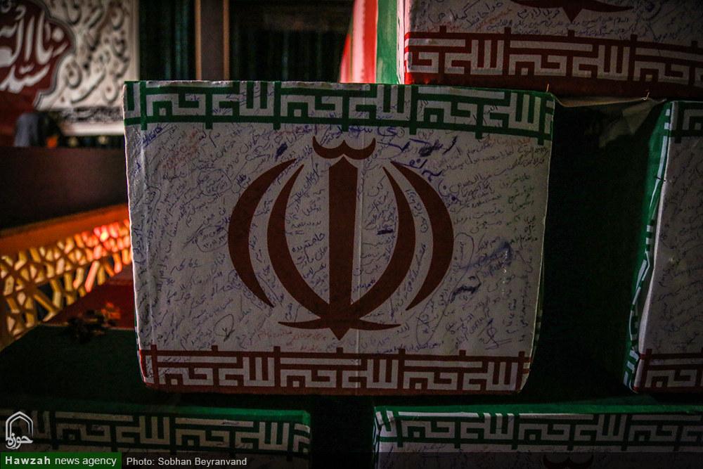 تصاویر/ مراسم وداع با شهید رحیم رجبی نارکی در معراج الشهدا