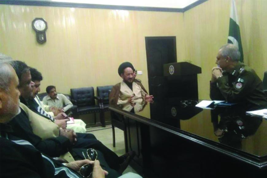 دیدار دبیر مجلس وحدت مسلمین پنجاپ با رئیس پلیس لاهور
