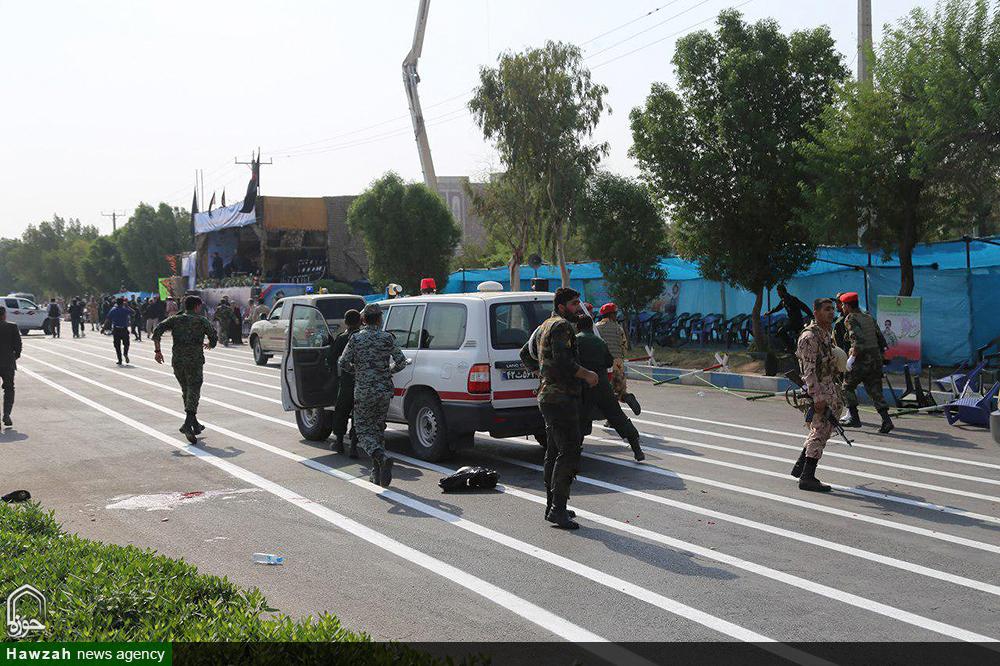 حمله تروریستی نیروهای تکفیری به مراسم رژه نیروهای مسلح اهواز
