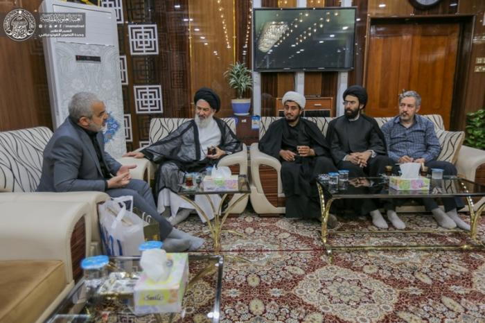گفتگوی نمایندگان اماکن زیارتی ایران با تولیت آستان علوی برای خدمت به زائرین اربعین