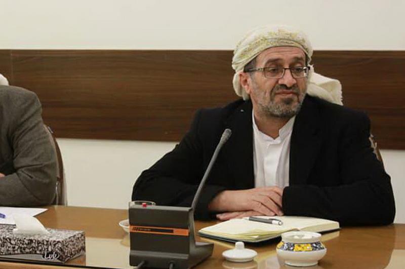 شیخ محمد قاسم الهاشمی رئیس مجلس اسلامی زیدی یمن