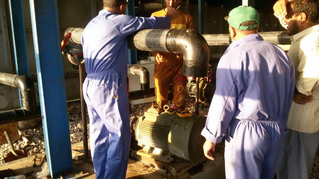 ایستگاه تصفیه آب سیحان در منطقه السیبة