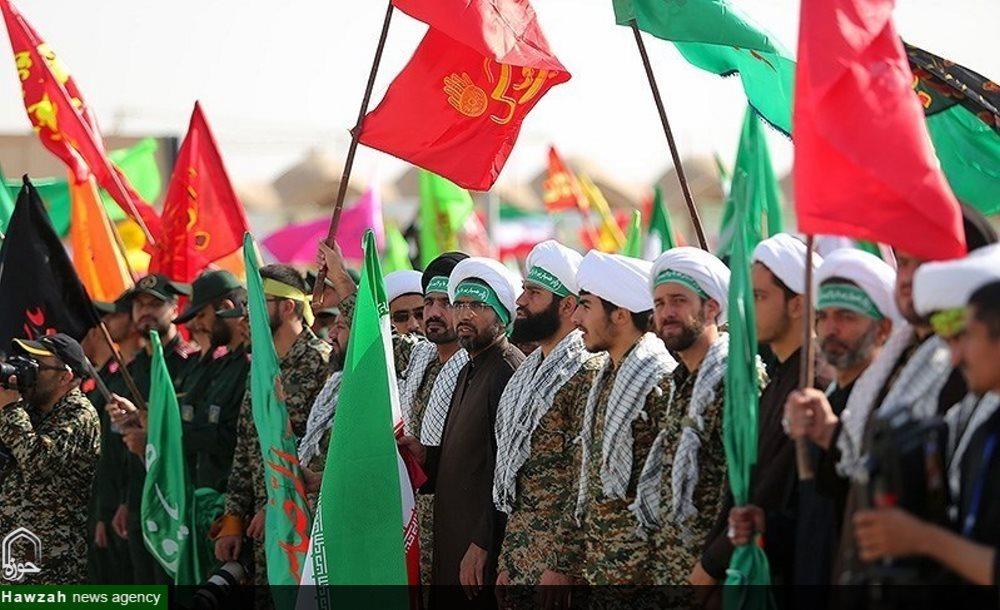 گردان بسیج طلاب و روحانیون  اصفهان در رزمایش اقتدار عاشورایی