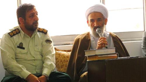 حجت الاسلام والمسلمین محمد باقر محمدی لائینی در دیدار پرسنل نیروی انتظامی شهرستان نکا