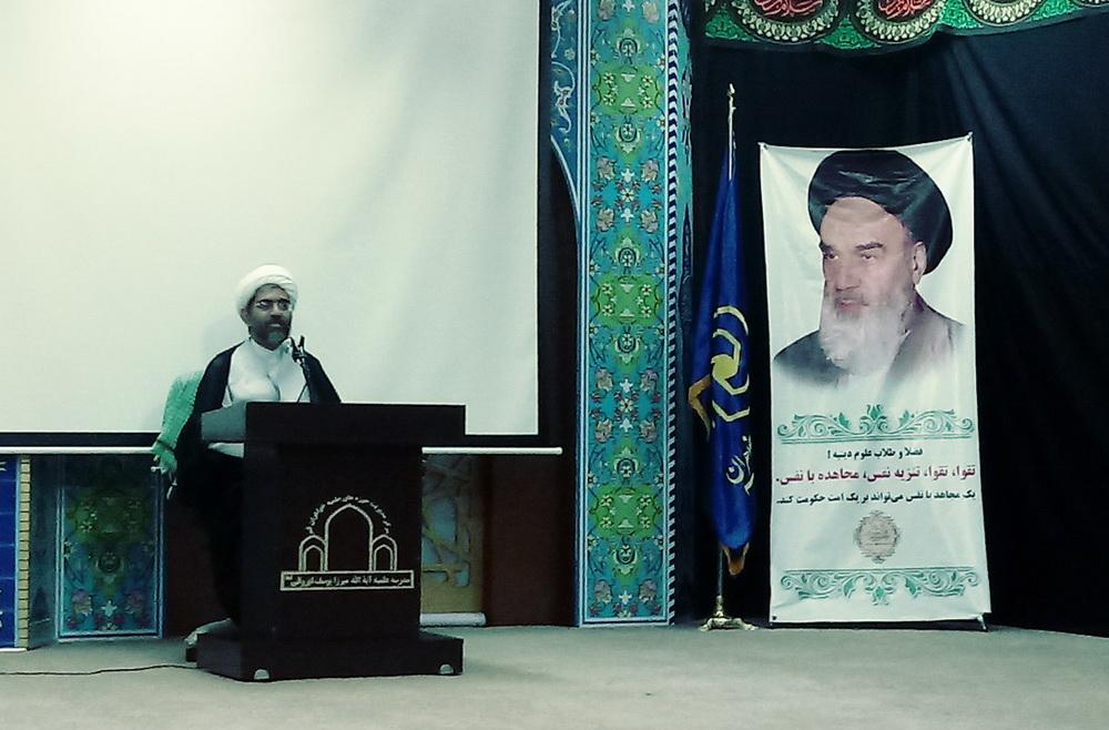 حجت الاسلام حیدری فسایی در جلسه طلاب دورود