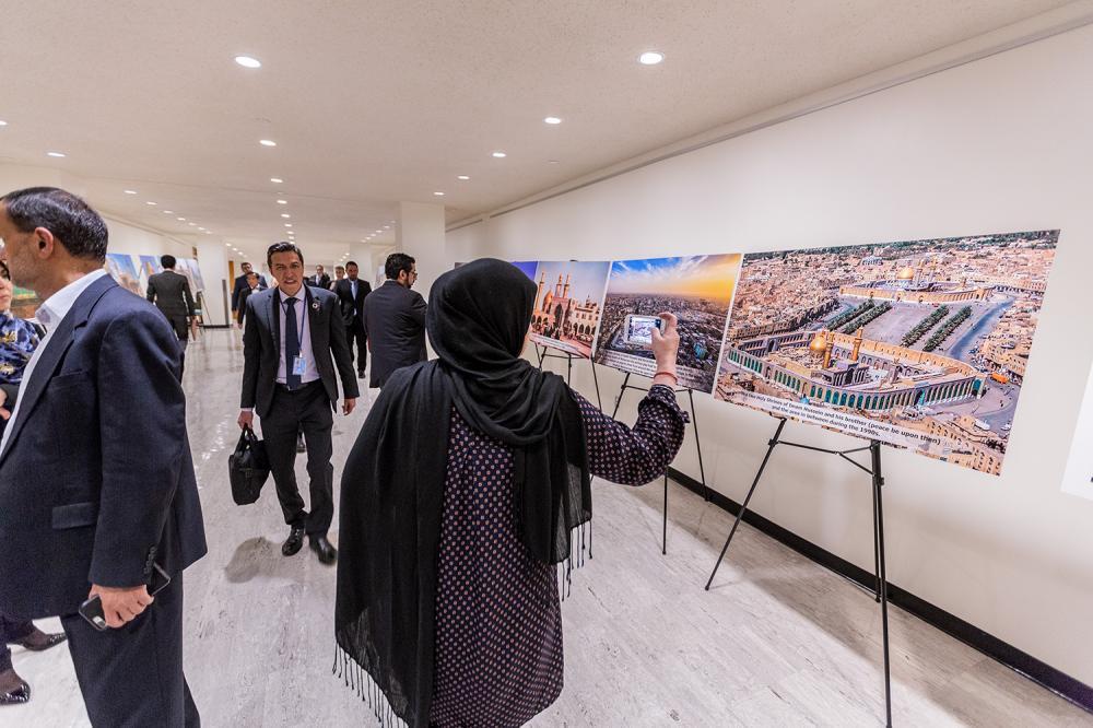 نمایشگاه آستان مقدس حسینی در ساختمان سازمان ملل متحد