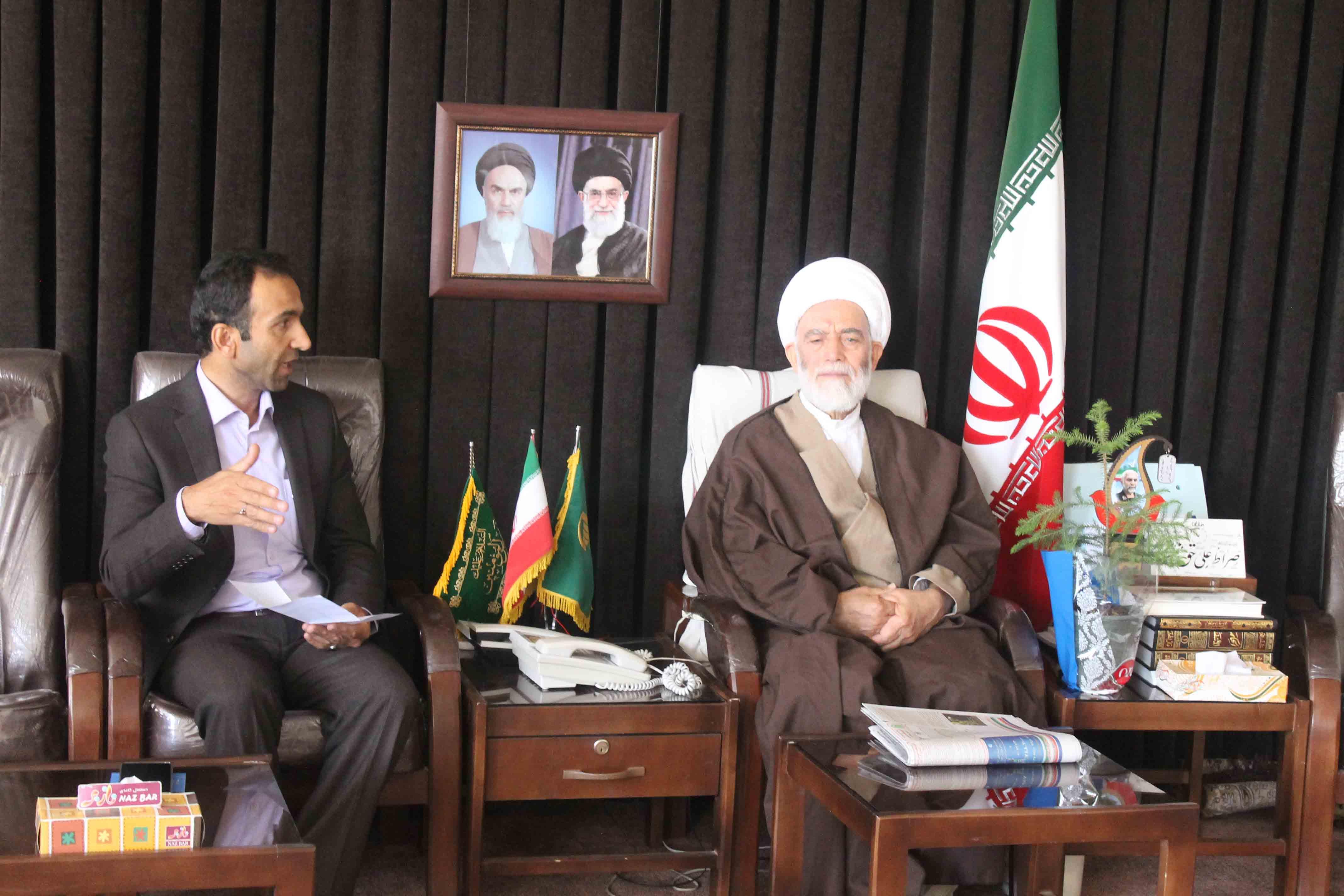 دیدار مدیران محیط زیست استان همدان با آیت الله طه محمدی