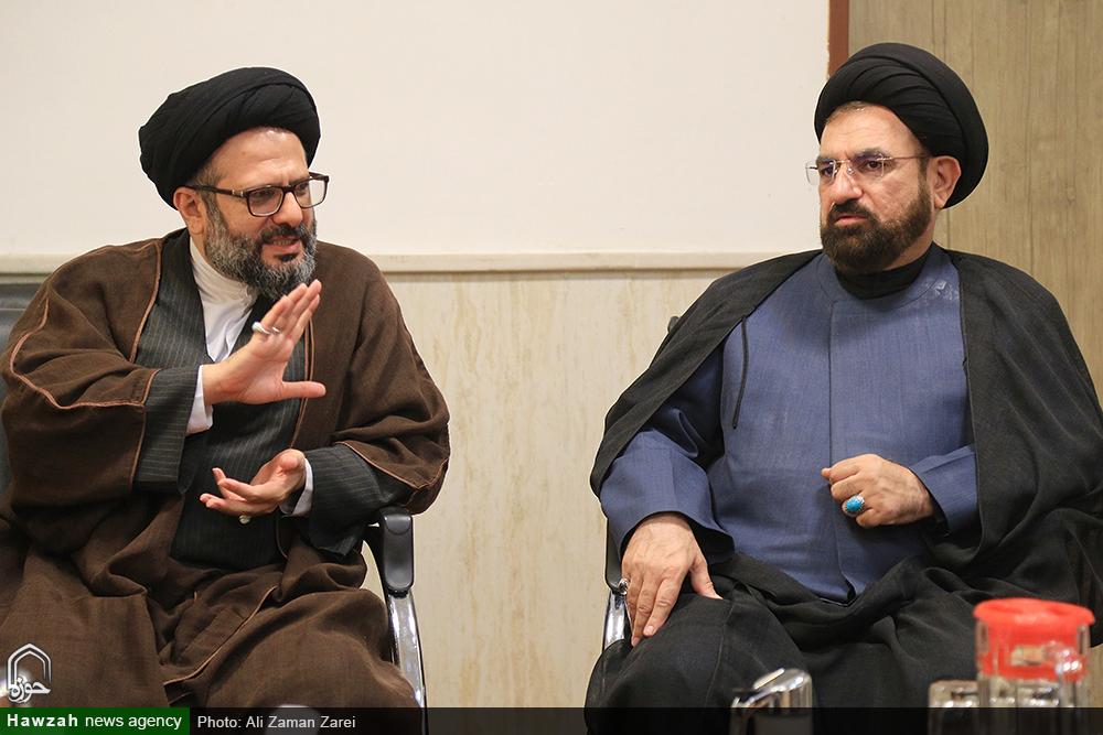 جلسه مسئول ارتباطات و بینالملل حوزه با مدیر حوزه علمیه خوزستان