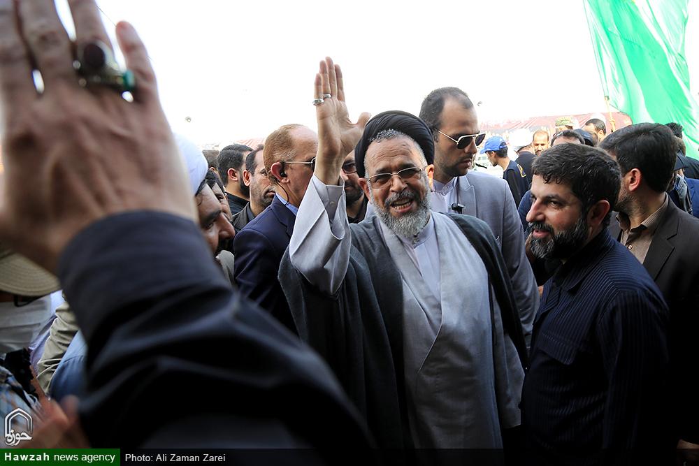 بازدید وزیر اطلاعات از پایانه مرزی چذابه