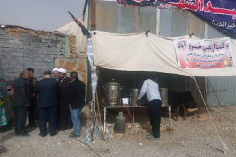 بازدید از موکب های مردمی روستای خسروآباد بیجار