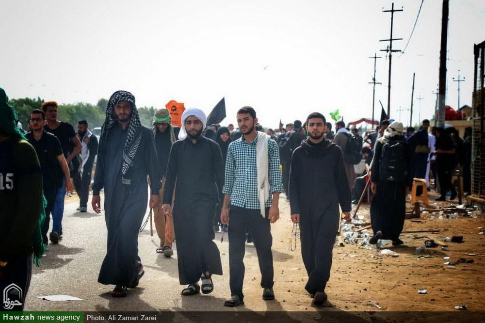 تصاویر/ پیاده روی زائران اربعین در مسیر بهشت
