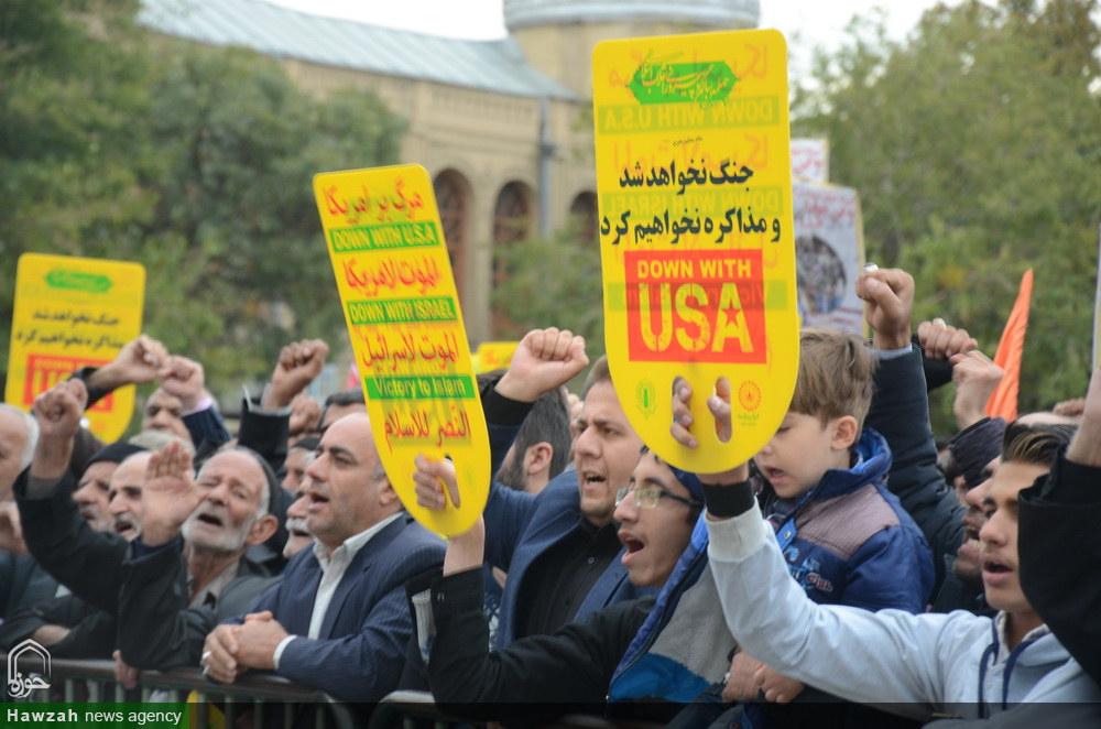 تصاویر/ راهپیمایی ۱۳ آبان در همدان