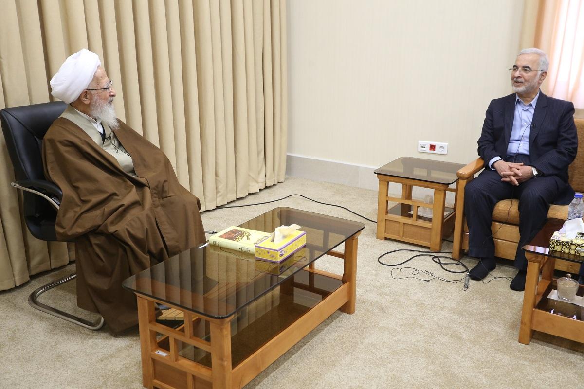 آیت الله العظمی جوادی آملی در دیدار با رئیس کل ستاد مبارزه با مواد مخدر