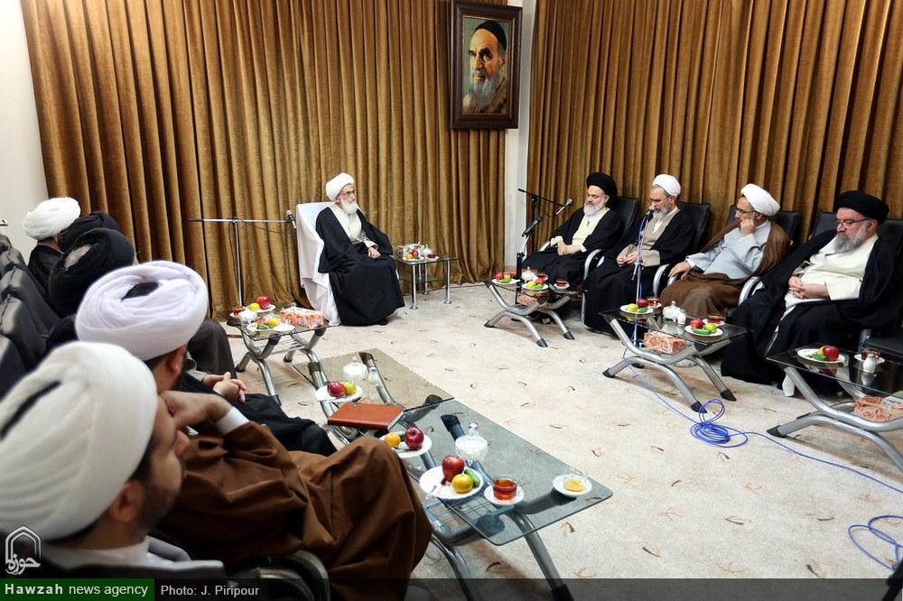تصاویر/ دیدار اعضای شورای عالی حوزه با آیت الله العظمی نوری همدانی