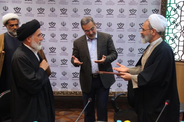 تقدیر آیت الله اعرافی و  وزیر آموزش و پرورش از حجت الاسلام ملکی دبیر ستاد همکاری ها