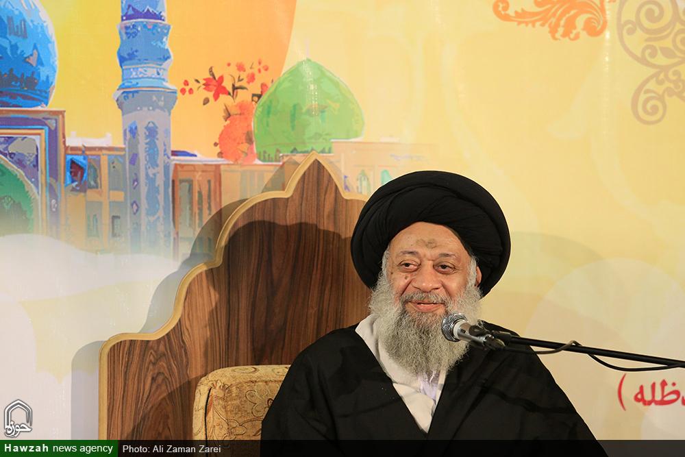 سخنرانی آیت الله موسوی جزایری در آیین عمامه گذاری طلاب مدرسه علمیه امام خامنه ای اهواز