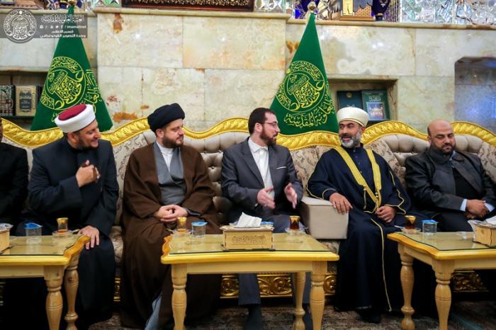 شرف گروهی از علمای اهل سنت عراق به حرم امیر المومنین (ع)