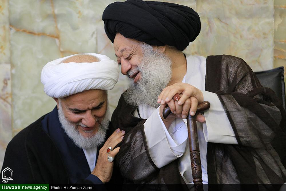 صفای استاد و شاگرد / حجت الاسلام و المسلمین حاجتی در محضر آیت الله موسوی جزایری