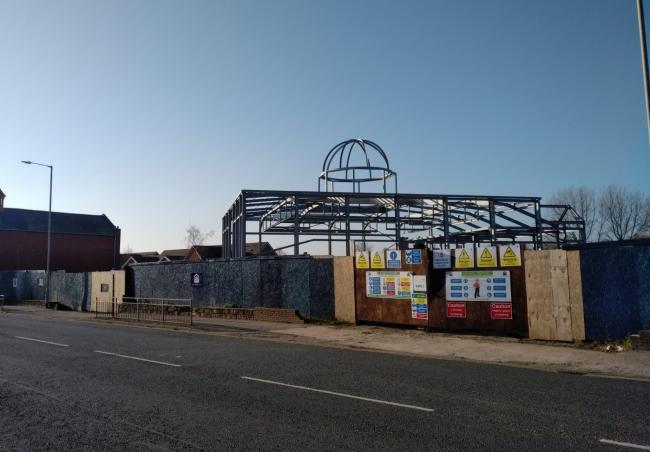 بزرگترین مسجد شمال ولز در حال ساخته شدن است + تصاویر