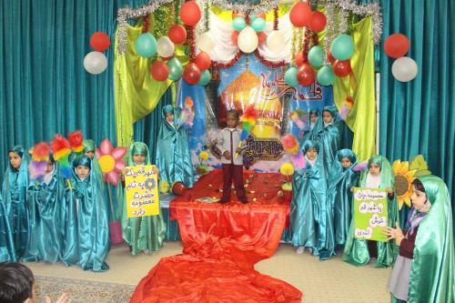 استقبال نمادین کودکان مهد از ورود حضرت معصومه(س) به قم