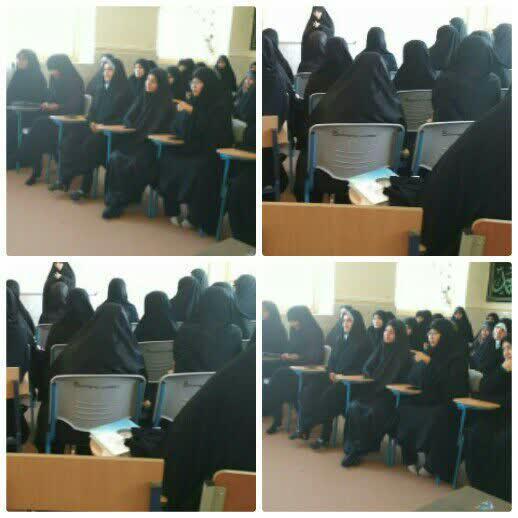 """کرسی آزاد اندیشی """"حجاب"""" در مدرسه علمیه خواهران فاطمه ام البنین (س)"""