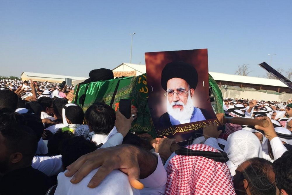 تشییع پیکر حجت الاسلام سید طاهر السلمان در عربستان