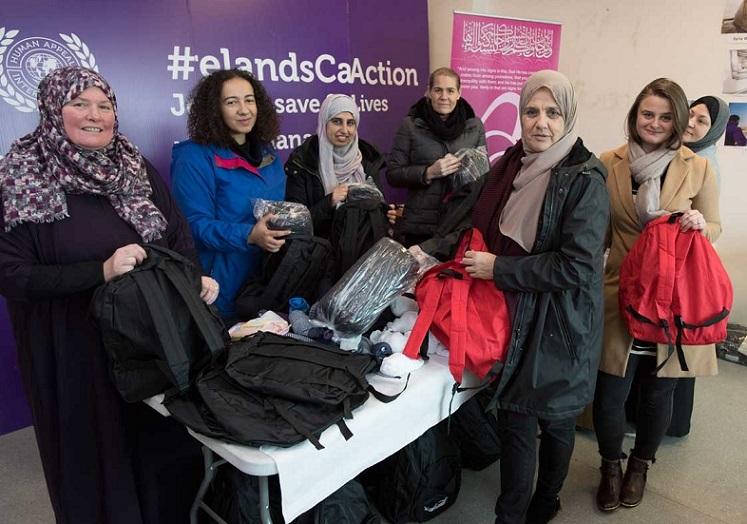 جامعه زنان مسلمان ایرلند به کمک بی خانمان ها شتافتند + تصاویر