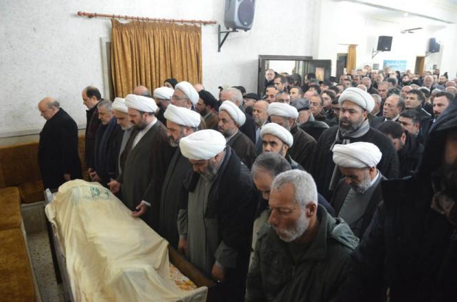 دبیر مجلس اعلای اسلامی شیعیان لبنان طی مراسمی رسمی تشییع شد