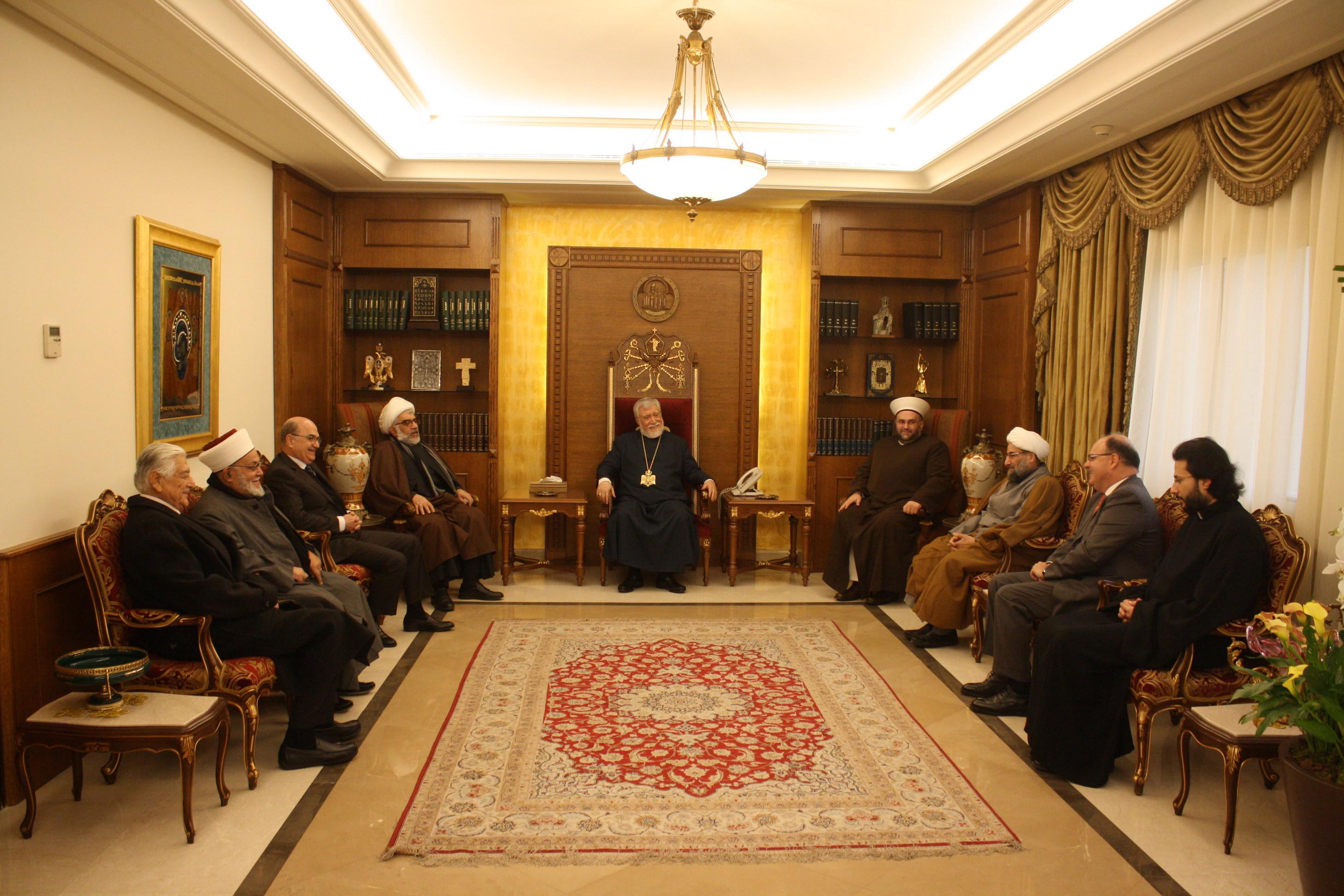 دیدار تجمع علمای مسلمان لبنان با اسقف مسیحی