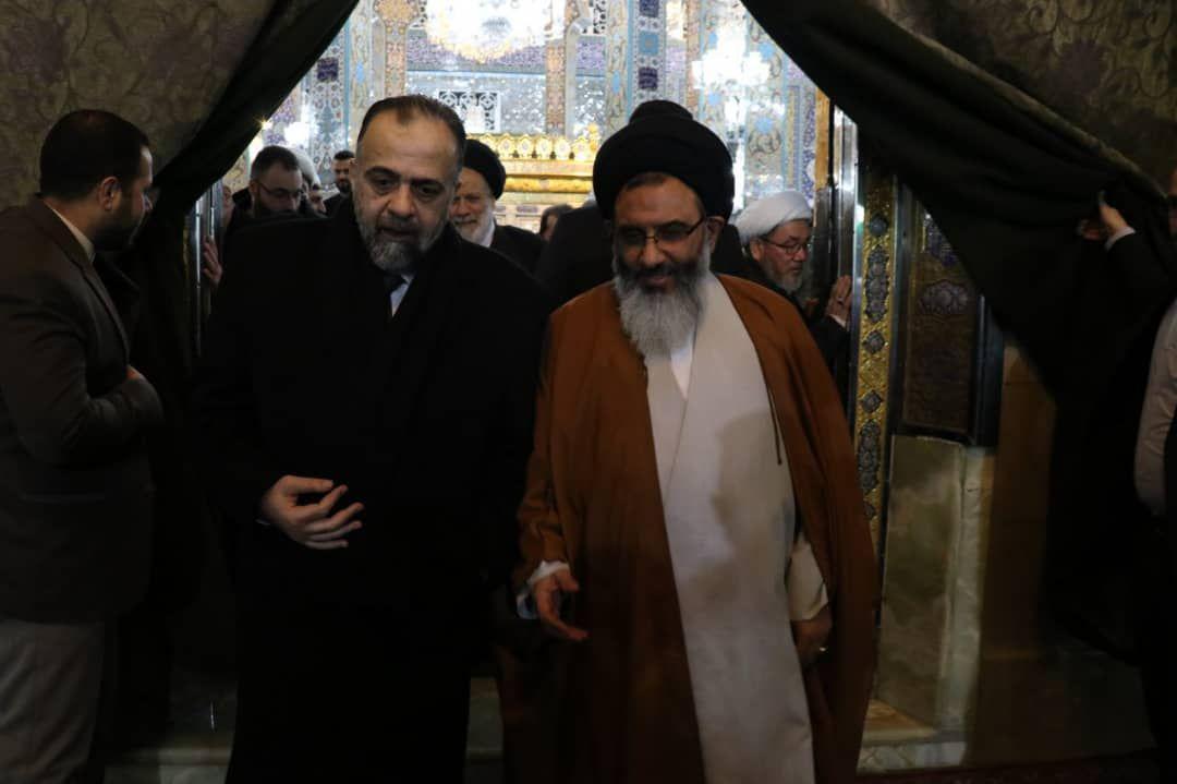 وزیر اوقاف سوریه به زیارت حرم حضرت زینب مشرف ش