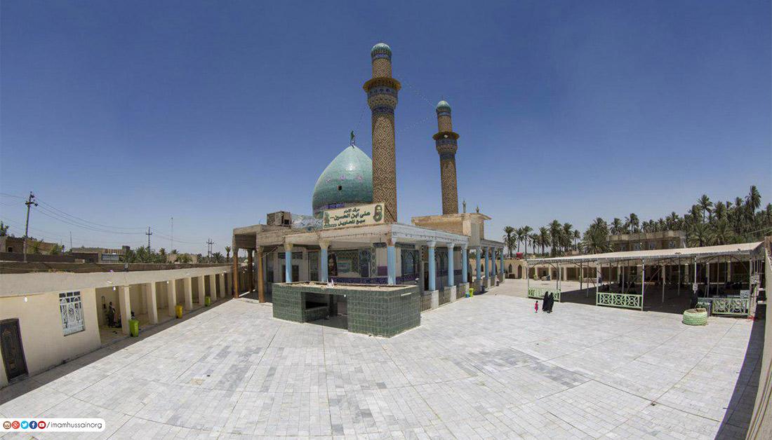 تصاویری از مرقد علی بن الحسین از نوادگان حضرت عباس (ع) در عراق