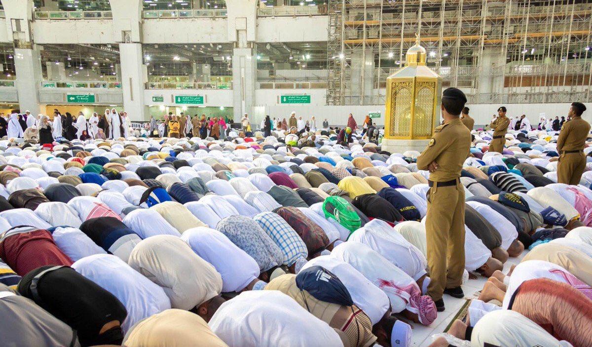 نماز آیات در مسجدالحرام