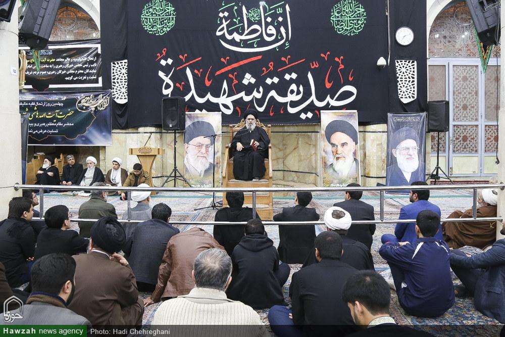 تصاویر/ مراسم چهلم مرحوم آیت الله هاشمی شاهرودی در مسجد اعظم قم