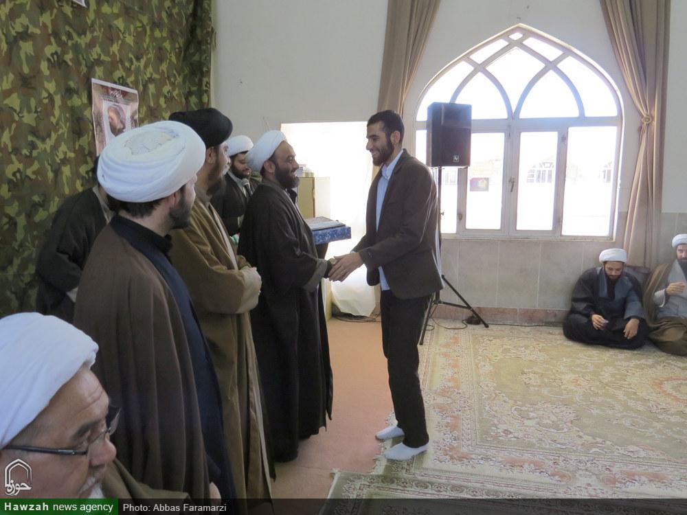 تصاویر/ تجلیل از طلاب برتر مدرسه علمیه امام باقر(ع) کامیاران