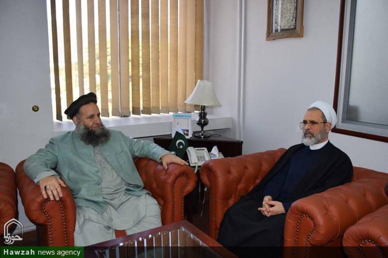 تصاویر/ دیدار آیت الله اعرافی با وزیر امور مذهبی پاکستان