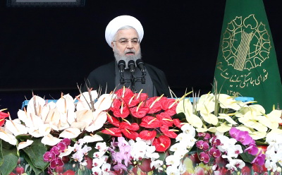 رئیس جمهوری در راهپیمایی ۲۲ بهمن