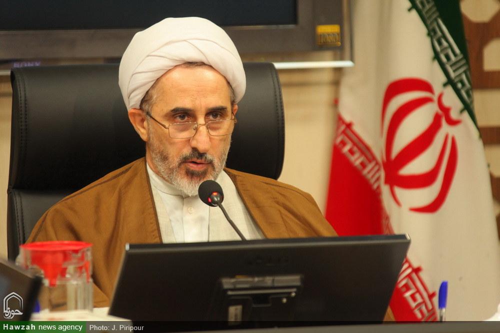 تصاویر/ نشست خبری پذیرش سراسری حوزههای علمیه-حجت الاسلام رستم نژاد