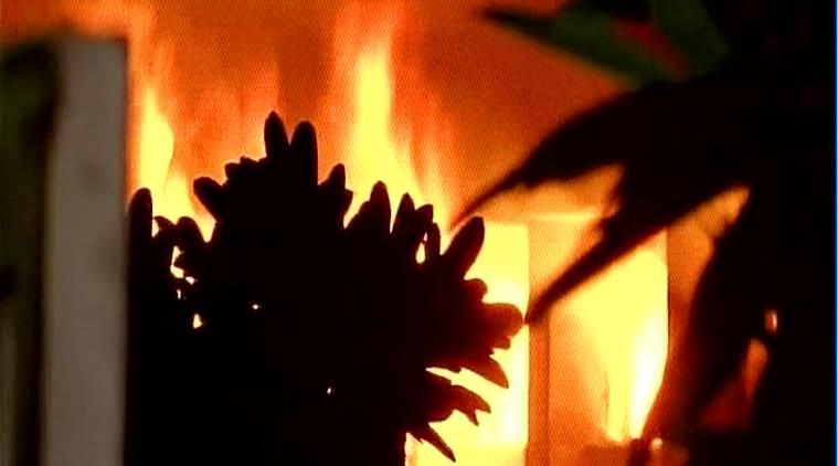 مسجدی در یکی از روستاهای هند به آتش کشیده شد