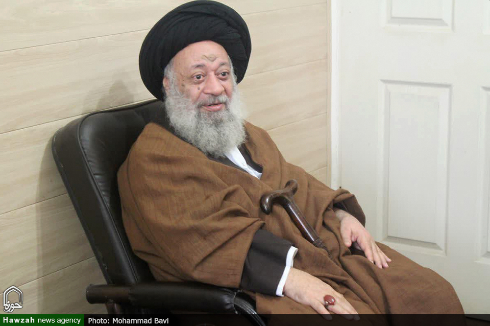 دیدار رئیس ستاد بازسازی عتبات عالیات کشور با آیت الله موسوی جزایری