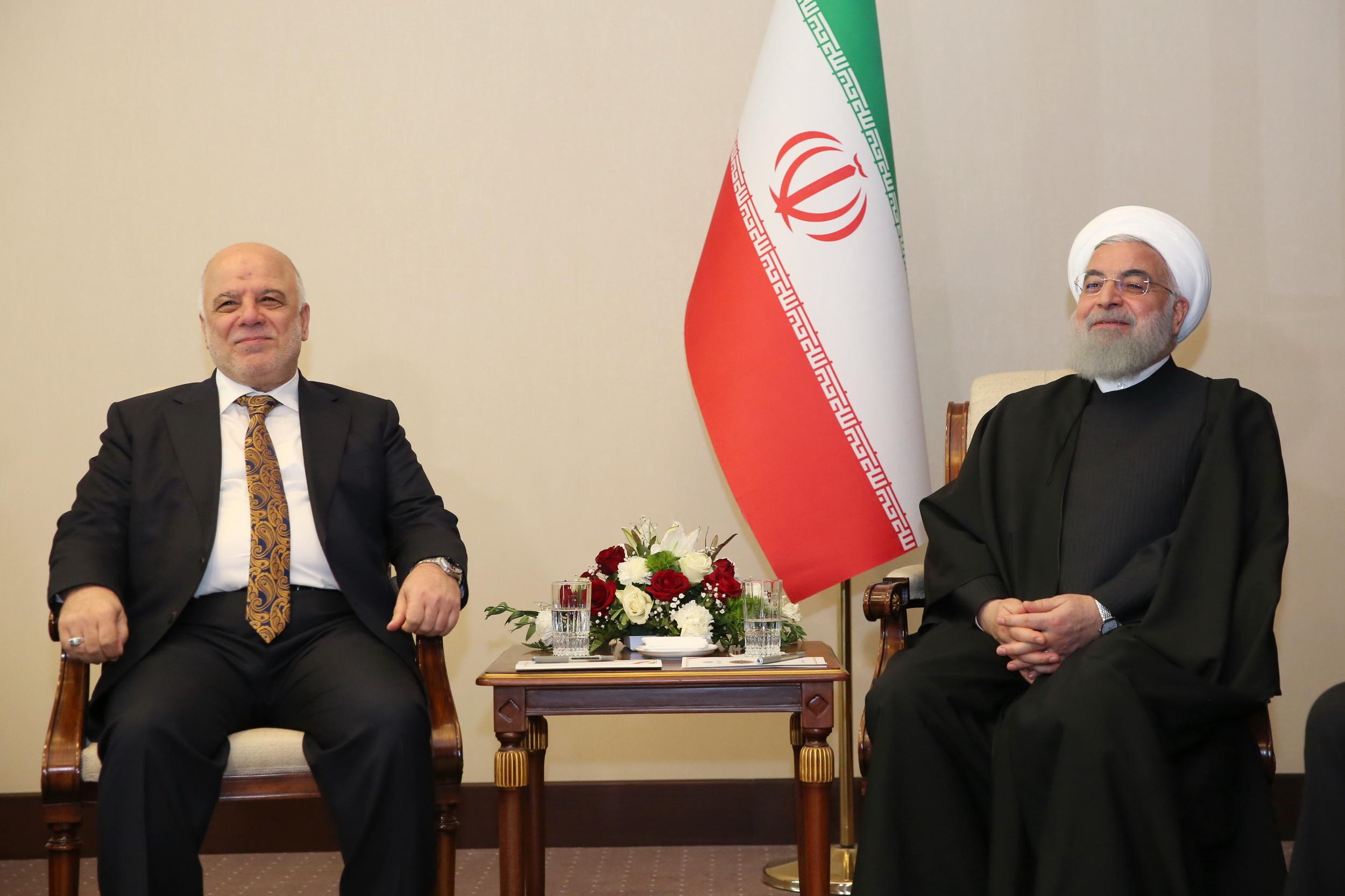 نخست وزیر سابق عراق  در دیدار با روحانی