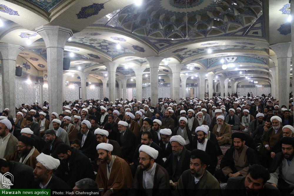 گردهمایی طلاب و فضلای استان مازندران در مدرسه علمیه فیضیه