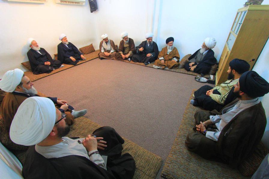 دیدار جمعی از اساتید جامعه مدرسین حوزه علمیه قم با آیت الله العظمی بشیر نجفی