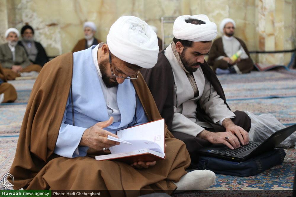 تصاویر/ نخستین درس خارج فقه آیت الله العظمی مکارم شیرازی در سال ۹۸