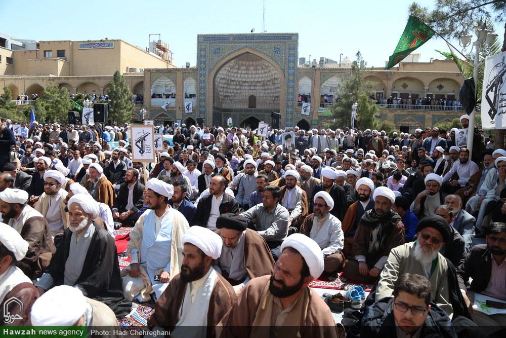 تجمع حوزویان در حمایت از سپاه پاسداران انقلاب اسلامی