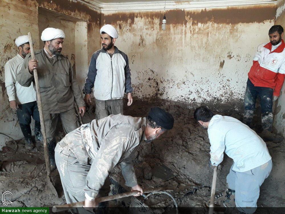 کمک رسانی گروه تبلیغی حامیان ولایت بابل در روستای چم مهر پلدختر لرستان
